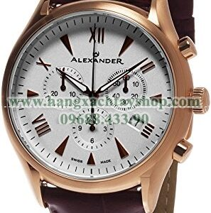 Alexander A021-04 Heroic Pella Multi-function Chronograph Silver Dial Rose Gold Plated Swiss-hangxachtayshop