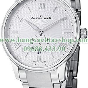 Alexander-A102B-01-Statesman-Regalia-Silver-Dial-Guilloche-Stainless-Steel-Swiss-Made-hangxachtayshop