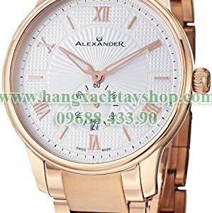 Alexander-A102B-04-Statesman-Regalia-Silver-Dial-Rose-Gold-Plated-Bracelet-Swiss-hangxachtayshop