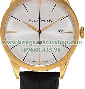 Alexander A911-07 Heroic Sophisticate Silver Dial Yellow Gold Plated Swiss-hangxachtayshop