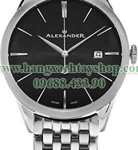 Alexander-A911B-03-Heroic-Sophisticate-Black-Dial-Stainless-Steel-Bracelet-Swiss-hangxachtayshop