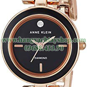 Anne-Klein-AK-2622BKRG-Diamond-Accented-Black-and-Rose-Gold-Tone-Bangle-Watch-hangxachtayshop