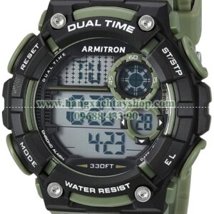 Armitron Sport 408445DGN Digital Chronograph Dark Green Resin Strap-hangxachtayshop