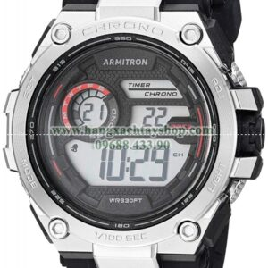 Armitron Sport 408450RBK Red Accented Digital Chronograph Black Silicone Strap-hangxachtayshop