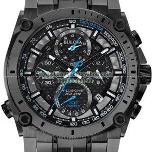Bulova 46mm Precisionist Gunmetal Gray Chronograph Watch-hangxachtayshop
