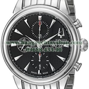 Bulova 63C106 Gemini Analog Display Swiss Automatic Silver-hangxachtayshop