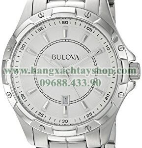 Bulova 96B147 Analog Display Japanese Quartz Silver-hangxachtayshop