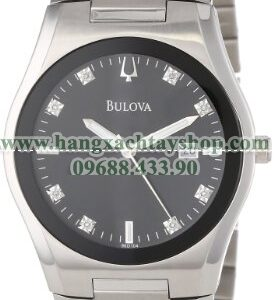 Bulova 96D104 Black Dial 8 Diamonds-hangxachtayshop