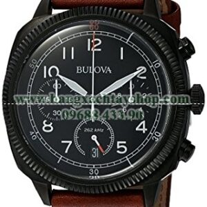 Bulova 98B245 Classic Quartz Stainless Steel and Leather-hangxachtayshop
