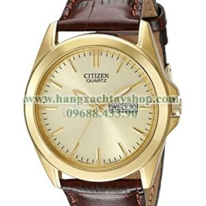 Citizen BF0582-01P Goldtone Watch with Brown Leather Strap-hangxachtayshop