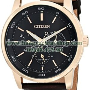 Citizen BU2013-08E Eco-Drive Gold-Tone Watch with Brown Leather Band-hangxachtayshop