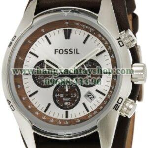 Fossil CH2565 Cuff Chronograph Tan Leather-hangxachtayshop