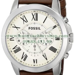 Fossil FS4735 Grant Brown Leather Watch-hangxachtayshop