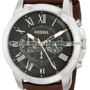 Fossil FS4813 Grant Stainless Steel with Leather Band-hangxachtayshop