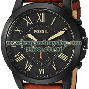Fossil FS5241 Grant Chronograph Luggage Leather Watch-hangxachtayshop