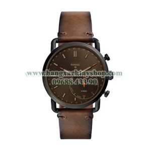 Fossil FTW1149 Brown Leather Strap Hybrid Smart-hangxachtayshop