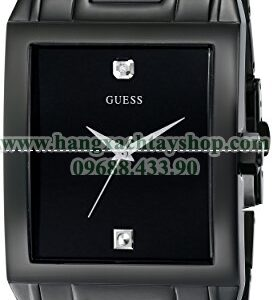 GUESS U12557G1 Classic Black IP Rectangular Diamond Accented-hangxachtayshop
