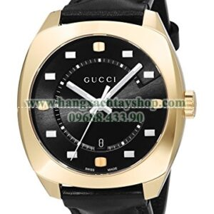 Gucci YA142310 Swiss Quartz Gold-Tone and Leather Dress-hangxachtayshop(1)
