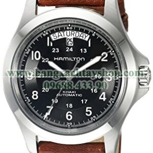 Hamilton H64455533 Khaki King Series Stainless Steel Automatic Watch with Brown Leather Band-hangxachtayshop