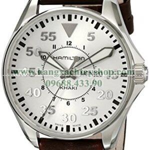 Hamilton H64611555 Khaki Pilot Silver Day Date Dial Watch-hangxachtayshop