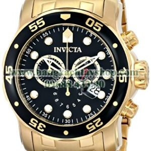Invicta 0072 Pro Diver Collection Chronograph 18k Gold-Plated-hangxachtayshop