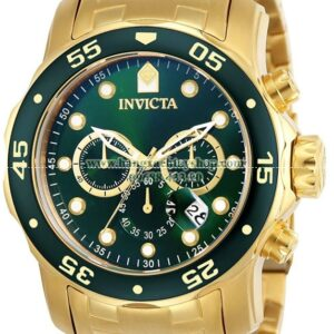 Invicta 0075 Pro Diver Chronograph 18k Gold-Plated-hangxachtayshop
