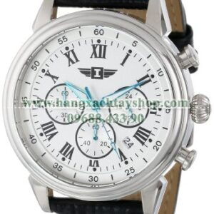 Invicta 90242-002 Chronograph Silver Dial Black Leather-hangxachtayshop
