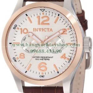 Invicta Nam 13010 I-Force Silver Textured Dial Brown Leather Watch-hangxachtayshop