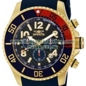 Invicta Nam 13730 Pro Diver Chronograph Black Carbon Fiber Dial Black Polyurethane Watch-hangxachtayshop