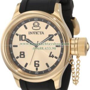Invicta Nam 1438 Russian Diver Gold Dial Black Polyurethane Watch-hangxachtayshop