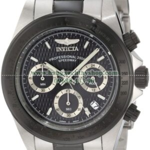Invicta Nam 6934 Speedway Collection Chronograph BlackSilver-Tone Stainless Steel Watch-hangxachtayshop