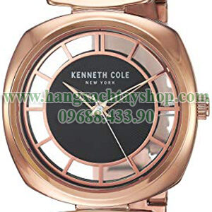 Kenneth-Cole-New-York-Brown-KC15108001-'Transparency'-Quartz-Brass-Plated-Stainless-Steel-Dress-Watch-hangxachtayshop