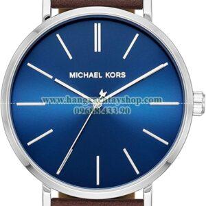 Michael Kors Auden Three-Hand Silver-Tone Alloy Watch MK7146-hangxachtayshop