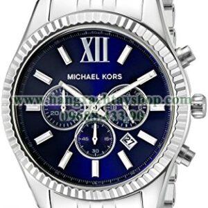 Michael Kors MK8280 Lexington Silver-Tone Stainless Steel-hangxachtayshop