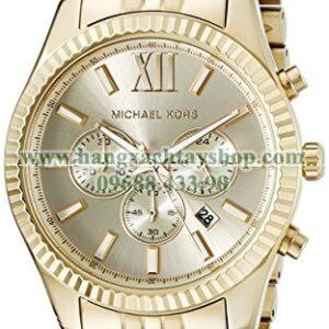 Michael Kors MK8281 Lexington Gold-Tone Stainless Steel-hangxachtayshop