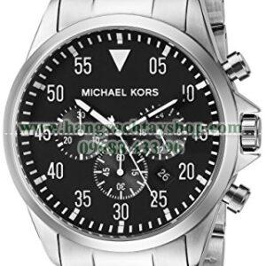 Michael Kors MK8413 Gage Silver-Tone-hangxachtayshop