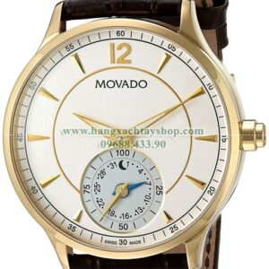 Movado 0660008 Swiss Quartz Gold-Tone and Leather-hangxachtayshop