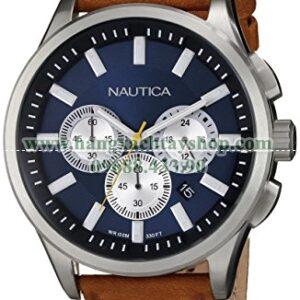 Nautica N16695G NCT 17 Brushed Stainless Steel-hangxachtayshop