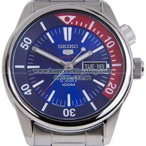 Seiko 5 Sports SRPB25J1 Japan Stainless Steel Blue Dial Inner Rotating Bezel Automatic Watch-hangxachtayshop