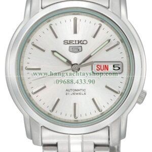 Seiko Nam SNKK65 Seiko 5 Automatic Silver Dial Stainless-Steel Bracelet Watch-hangxachtayshop