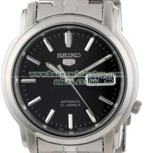 Seiko Nam SNKK71 Seiko 5 Automatic Black Dial Stainless-Steel Bracelet Watch-hangxachtayshop