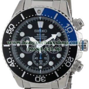 Seiko Nam SSC017 Solar Dive Chronograph Classic Solar Dive Chronograph Watch