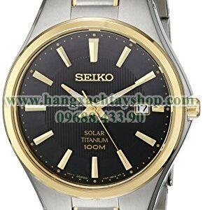 Seiko SNE382 Two-Tone Titanium Watch-hangxachtayshop