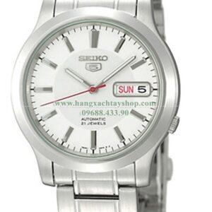 Seiko SNK789 Seiko 5 Automatic White Dial Stainless-Steel Bracelet-hangxachtayshop