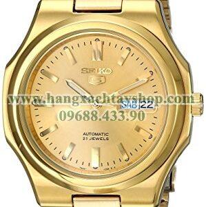 Seiko SNKK52 Seiko 5 Automatic Gold-Tone Stainless Steel Bracelet Watch-hangxachtayshop