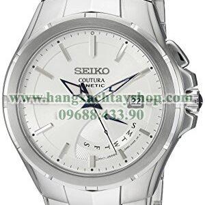 Seiko SRN063 Coutura Kinetic Retrograde Silver-Tone Stainless Steel Watch-hangxachtayshop