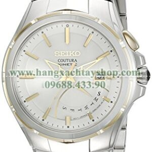 Seiko SRN064 Coutura Kinetic Retrograde Two-Tone Stainless Steel Watch-hangxachtayshop