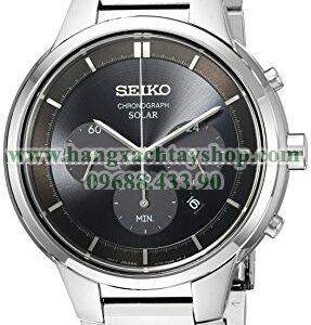 Seiko SSC439 Chronograph Analog Display Japanese Quartz Silver Watch-hangxachtayshop