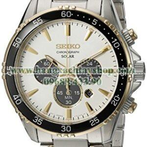 Seiko SSC446 Chronograph Quartz Stainless Steel Dress-hangxachtayshop