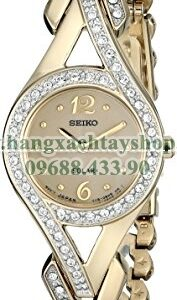 Seiko SUP176 Swarovski Crystal-Accented Stainless Steel Solar Watch-hangxachtayshop